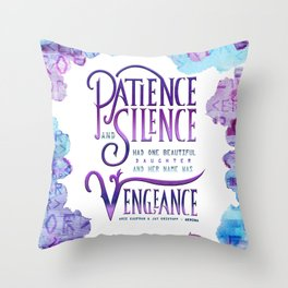 PATIENCE AND SILENCE Throw Pillow