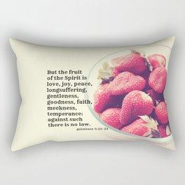 Galatians 5 Fruit Spirit Rectangular Pillow