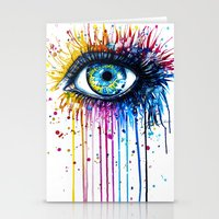 "power Stationery Cards featuring ""Rainbow Eye"" by PeeGeeArts"