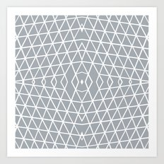 Geo Outline Grey Art Print
