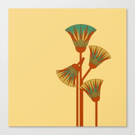 Ancient Egyptian lotus - Colorful Canvas Print