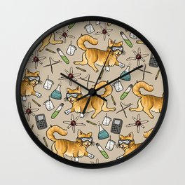 STEM Cats Wall Clock