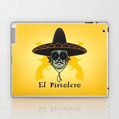 El Pistolero.Mexican sugar skull Laptop & iPad Skin