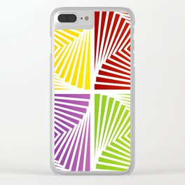 Colorful Squares twirling from the Center. Optical Illusion of PerspectiveColorful Squares twirling Clear iPhone Case