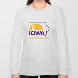 Iowa: Land of the Rising Corn - Purple and Gold Edition Long Sleeve T-shirt