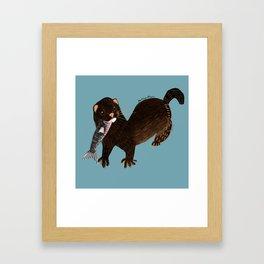 Clever Mink ( Neovison vison) Framed Art Print