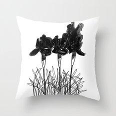 Dark Iris Throw Pillow