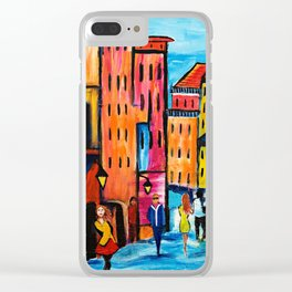 Afternoon Walk Downtown Clear iPhone Case