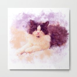 Cat Watercolor 01 Metal Print