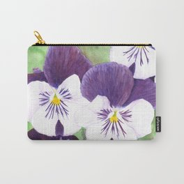 Pansies flowers Carry-All Pouch