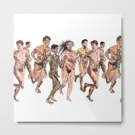 Naked Runners Metal Print