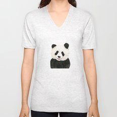 naughty little panda Unisex V-Neck
