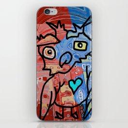 Red Pill Blue Pill Owl iPhone Skin