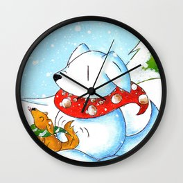 Snowtriever Wall Clock