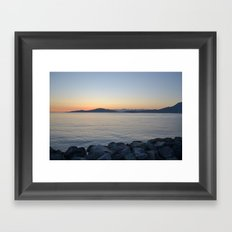 on a western shore Framed Art Print