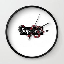 snake supreme gucc new hot 2018 Wall Clock