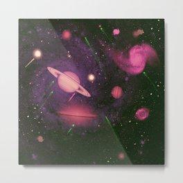 Purple Galaxy Painting Metal Print
