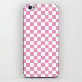 Light Pink Checkerboard Pattern iPhone Skin