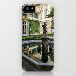 A Palace Courtyard in Italy  iPhone Case