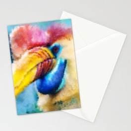 Painted Tropical Bird  Stationery Cards