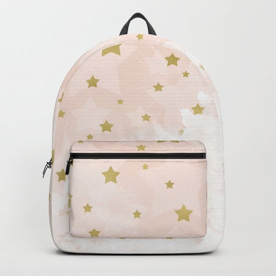 Gold stars on blush pink Backpack