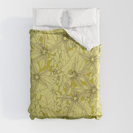 deadly nightshade chartreuse Duvet Cover