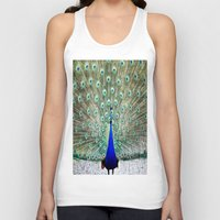 peacock Tank Tops featuring Peacock by Whimsy Romance & Fun