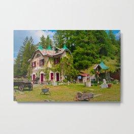 Fairytale Cottage Metal Print
