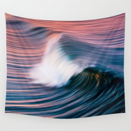 Sunrise Surf HB Pier 9/12/15  (Pk) Wall Tapestry
