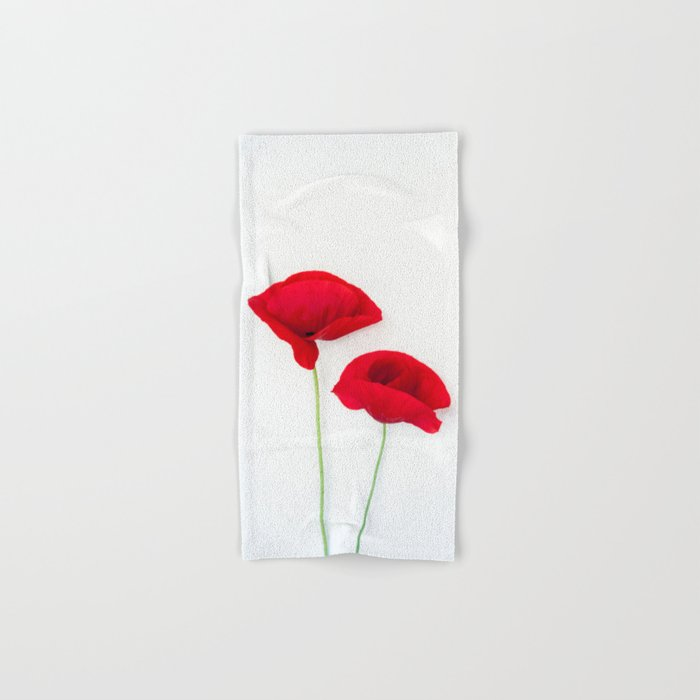 Two Red Poppies Hand & Bath Towel