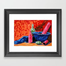 Still life collage Framed Art Print