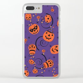 Halloween Magic- Purple Clear iPhone Case