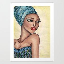 yamen . twin soul  Art Print