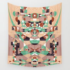 Tribal Technology 1 Wall Tapestry