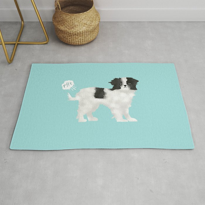 japanese chin farting dog cute funny dog gifts pure breed dogs Rug by  petfriendly