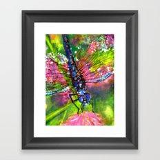Title: painting - Dragonfly Framed Art Print