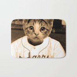 Baseball Cat Bath Mat