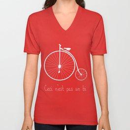 Dyke in white bike Unisex V-Neck