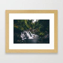 Sawmill Falls on Opal Creek, Oregon Framed Art Print
