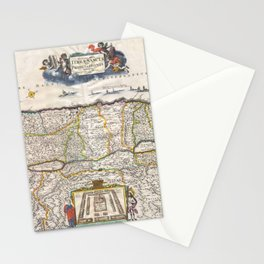 Old 1720 Historic State of Palestine Map Stationery Cards
