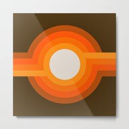 Golden Sunspot Metal Print