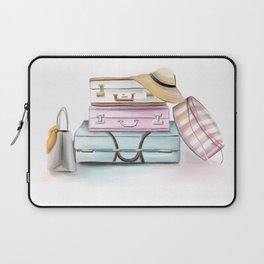 Pastel Suitcases Laptop Sleeve