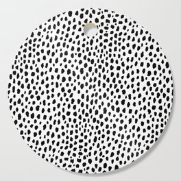 Dalmatian Spots (black/white) Cutting Board