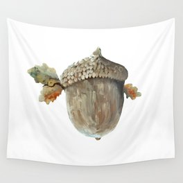 Fall acorn and oak leaves Wall Tapestry