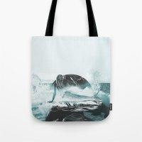 mermaid Tote Bags featuring Mermaid by fly fly away