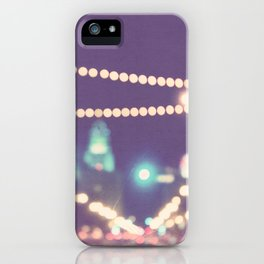 Sparkle No.2. downtown Los Angeles at night photograph iPhone Case