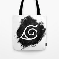 naruto Tote Bags featuring Naruto by Bradley Bailey