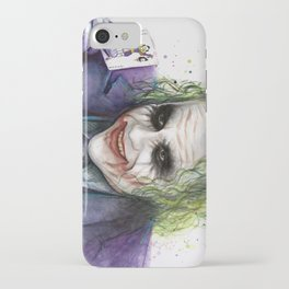 Joker Why So Serious Watercolor iPhone Case