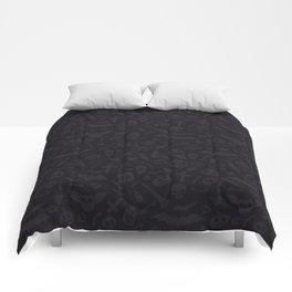 Dark Halloween Pattern Comforters