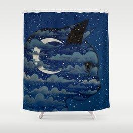 LUNA CAT by Raphaël Vavasseur Shower Curtain